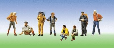 Faller Hikers (8) HO Scale Model Railroad Figure #151055