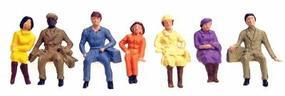 Faller Sitting People (36) HO Scale Model Railroad Figure #153001