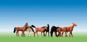 Faller Assorted Horses HO Scale Model Railroad Figure #154005