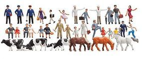 Faller Beginners Figure Set (36) N Scale Model Railroad Figure #155253