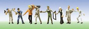 Faller Construction Workers (8) N Scale Model Railroad Figure #155315
