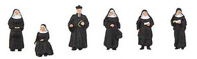 Faller Pastor and Nuns pkg(6) - N-Scale