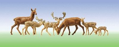 Faller Gmbh Fallow Deer & Red Deer (12) -- N Scale Model Railroad Figure -- #155509