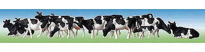 Faller Gmbh Holsteins Cows (Black & White) -- Z Scale Model Railroad Figure -- #158050