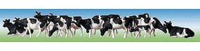 Faller Holsteins Cows (Black & White) Z Scale Model Railroad Figure #158050