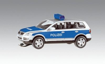 Faller Gmbh Volkswagen Touareg Police Car w/Flashing Light (Wiking) -- HO Scale Model Vehicle -- #161543