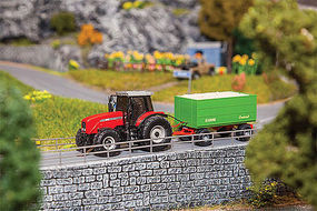 Faller Tractor w/Trailer Car System HO Scale Model Railroad Vehicle #161588
