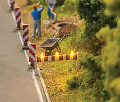 Faller Traffic Barricade w/LED Warning Lights Car System pkg(2)