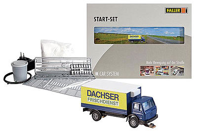 Faller Gmbh Car System Start Set MB SK Dachsr -- Model Railroad Road Accessory -- #162007