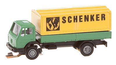 # New Boxed Flatbed // Tarpaulin Faller 162052 N Gauge Car System Truck MB Sk