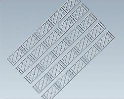 Faller Lattice Two-Rail Fence Kit HO Scale Model Railroad Accessory #180407