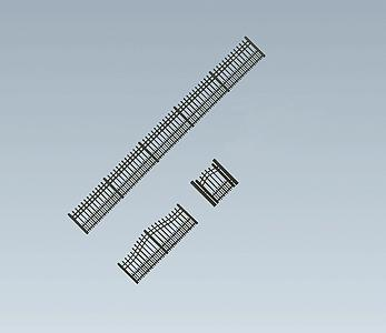 Faller Iron Garden Fence Kit HO Scale Model Railroad Accessory #180411
