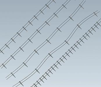 FALLER Iron Fence w// Concrete Posts Model Kit 4m Wire 80 Posts I HO Gauge 180432