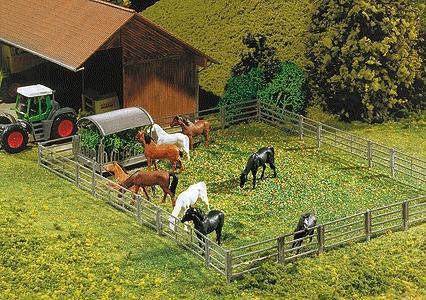 Faller Farmyard Fence System HO Scale Model Railroad Building Accessory #180434