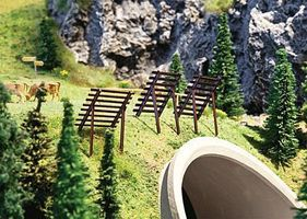 Faller Avalanche Barrier/Snow Fence Kit (10) HO Scale Model Railroad Accessory #180436