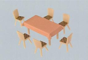 Faller 4 Tables & 24 Chairs HO Scale Model Railroad Building Accessory #180442