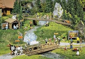 Faller Hiking Trail Accessories HO Scale Model Railroad Building Accessory #180548