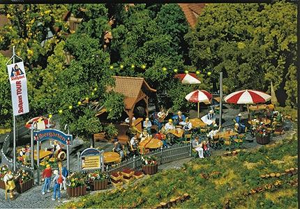 Faller Beer Garden Kit HO Scale Model Railroad Building Accessory #180564