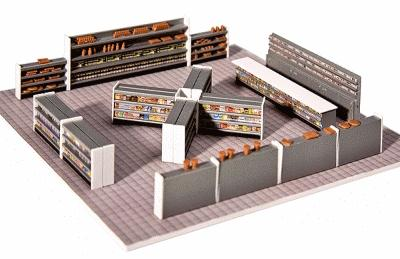 Faller Gmbh Retail Store Interior Equipment -- HO Scale Model Railroad Building Accessory -- #180565
