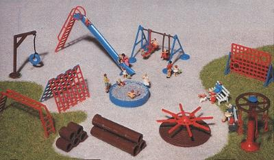 Faller Gmbh Playground Accessories Kit -- HO Scale Model Railroad Building Accessory -- #180576
