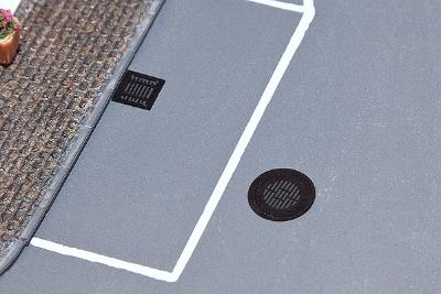 Faller Gmbh Manhole & Sewer Covers (10) -- HO Scale Model Railroad Road Accessory -- #180610