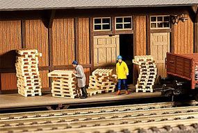 Wood Pallets (60 Pack) HO Scale Model Railroad Building Accessory #180612