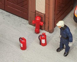 Faller 6 Extinguishers/2 Hydrant