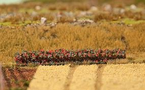 Faller Red Blossoms Premium Hedge Model Railroad Scenery #181235