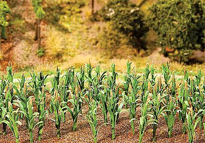 Faller Gmbh Corn Stalks Kit (36) -- Model Railroad Grass Earth -- #181250