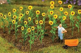 Faller Sunflowers (16) HO Scale Model Railroad Grass Earth #181256