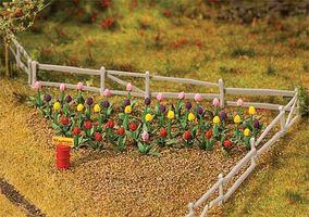 Faller Tulips (48 Pack) HO Scale Model Railroad Building Accessory #181262