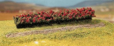 Faller Red Blooming Premium Hedges (3) HO Scale Model Railroad Scenery #181352