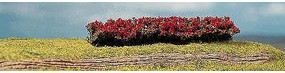 Faller Blooming Red Premium Hedges (4) HO Scale Model Scenery #181358