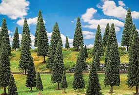 Faller Fir Trees 2 to 5-7/8 5 to 15cm Tall pkg(50)