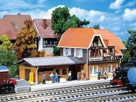 Faller Reinchenbach Station Kit N Scale Model Railroad B #212104
