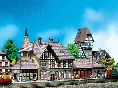 Faller Schwarzburg Station N Scale Model Railroad Building #212111