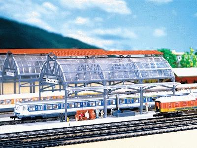 Faller Glass Train Shed N Scale Model Railroad Building #222128