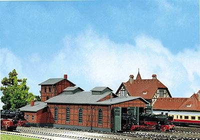 Faller 2-Stall Engine Shed N Scale Model Railroad Building #222136