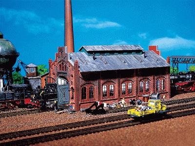 Faller Gmbh Engine Repair Shed -- N Scale Model Railroad Building -- #222142
