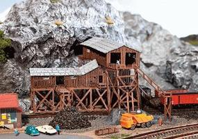 Faller Old Coal Mine Painted Kit N Scale Model Railroad Building #222205