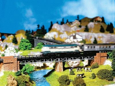 Faller Stone Bridge Abutment Set N Scale Model Railroad Bridge #222550