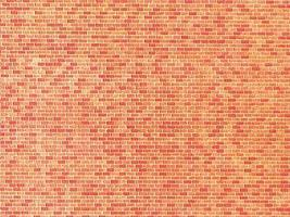 Faller (bulk of 10) Red Brick Textured Wall Cards (Bulk of 10) N Scale Model Railroad Scenery #222568