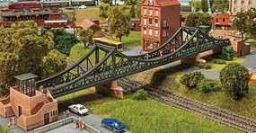 Faller Frankfurt Eiserner Steg Pedestrian Suspension Bridge Kit N Scale Model Railroad Bridge #222575