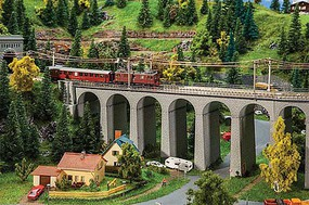 Faller Double-Track Straight Stone Viaduct Kit - 15-3/16 x 3-3/8 x 5-3/8 38.6 x 8.5 x 13.6cm - N-Scale
