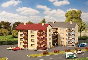 Faller Apartment Building Kit (2) N Scale Model Railroad Building #232304