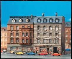 Faller Two Town Houses Painted/Weathered N Scale Model Railroad Building #232307