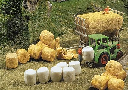 Faller Silo Straw Bales N Scale Model Railroad Building Accessory