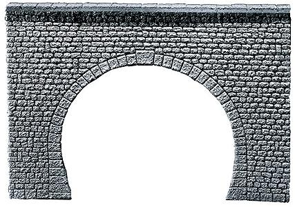 Faller Gmbh Double Track Tunnel Portal (Natural Stone Ashlars) -- N Scale Model Railroad Tunnel -- #272631