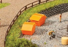 Faller Dumpsters Kit N Scale Model Railroad Building Accessory #272902