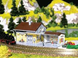 Faller Wayside Station Z Scale Model Railroad Building #282706